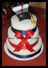 kputiebakes elegant college graduation cake