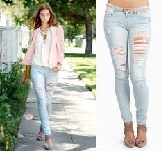 Light Wash Ripped Skinny Jeans How To Ripped Jeans Pants U2013 Global Trend Jeans Models