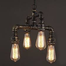 Steunk Pendant Light Niuyao Antique Industrial Wrought Iron Chandelier Pendant Lighting