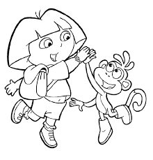 dora the explorer coloring pages crafts and worksheets for