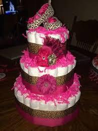 cheetah diaper cake custom order diaper cakes