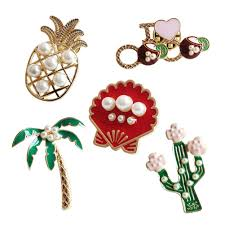 cartoon coconut trees shell pineapple pearl plant holiday shirt