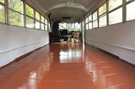 Skoolie Floor Plan 11 04 15 Painting The Floor Day 8 U2014 Traveling Tuttles