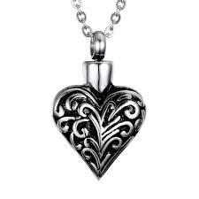 pendant for ashes memorial pendant urn ashes necklace keepsake heart shaped