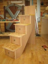 How To Make Drawer Pull Men Bunk Bed  Building The Stairs And - Plans to build bunk beds with stairs