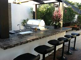 kitchen modern outdoor kitchens with white marble countertop
