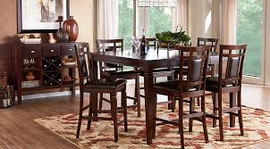 Dining Room Chairs Cherry Riverdale Cherry 5 Pc Square Counter Height Dining Room Dining