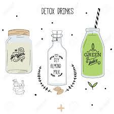 Ginger Doodle Detox Fat Flush Drinks Ginger Water Almond Milk Green Juice