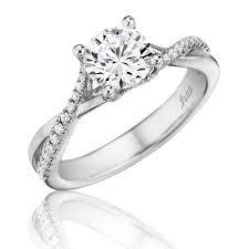 twist engagement ring fana polished diamond twist engagement ring a j inc