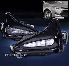 toyota corolla fog lights bumper driving led fog lights lamps chrome w switch for 2017 2018