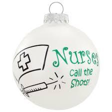 nurses call the shots glass ornament occupations christmas