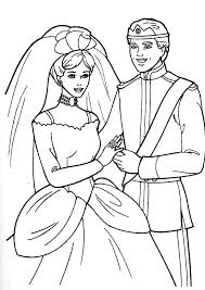 barbie doll dress prince princess coloring pages coloring sky