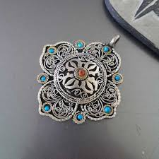 tibetan silver pendant necklace images Silver tibetan necklace images jpg