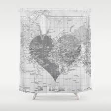 Shower Curtain Map Best Valentine Shower Curtain Products On Wanelo