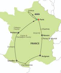 Carcassonne France Map by Shrines Of France And Lourdes