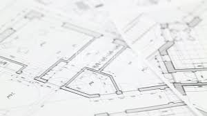 pliers and architectural plan of the modern house royalty free