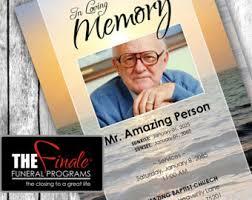 sle of funeral programs funeral program etsy
