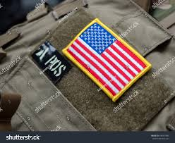 Ir American Flag Patch Usa Flag Ir Blood Type Velcro Stock Photo 490347892 Shutterstock