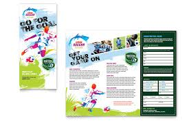 tri fold brochure publisher template youth soccer tri fold brochure template word publisher