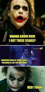 Dark Knight Joker Meme - i made these dark knight vs gangs of wasseypur memes now batman