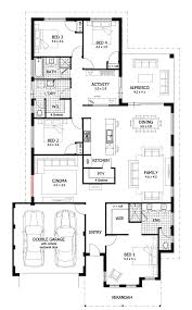 Four Bedroom House Plans One Story Extraordinary Ideas 4 Bedroom House Plans With Basement Single
