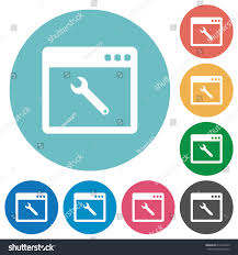 flat white color application maintenance flat white icons on stock vector 612219545