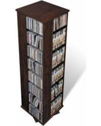 Dvd Storage Cabinet Find The Best Deals On Prepac Everett Espresso 4 Sided Spinner