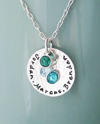Children S Birthstone Necklace Sterling Silver Birthstone Mother Necklace Custom