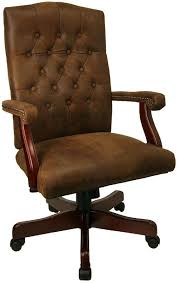 Wooden Desk Chairs With Wheels Design Ideas Furniture Cool Brown Frosted Laminated Leather Tufted Office