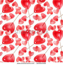 s day heart candy seamless pattern valentines day pink conversation stock vector