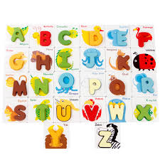 children educational wooden blocks animals number