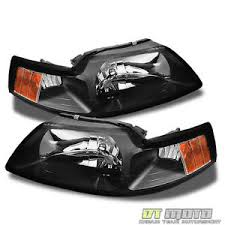 ebay mustang headlights black 1999 2004 ford mustang headlights headls replacement 99