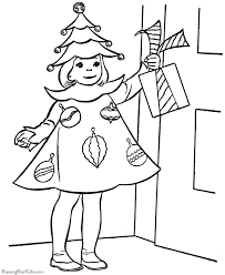 free christmas coloring pages christmas costume