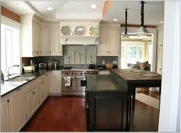 Kitchen Aid Cabinets Kitchen Cabinet Idea With Black Counter Island Green And Brown