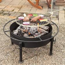Firepit Grill Amish Made Pit With Grill Attachment Grilling Lehman S