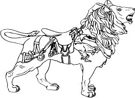 tremendous carousel animals coloring pages carousel horse coloring