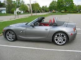 fs 2004 z4 3 0i roadster cpo sterling grey dream red 6 speed m