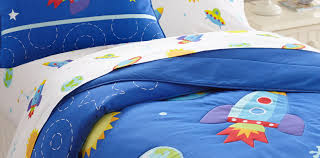 bedding set mattress on our outer space theme bed designed for