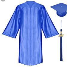 grad gown 52 jackets blazers royal blue graduation gown high school