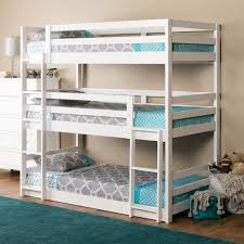Triple Decker Bunk Bed Triple Twin Bunk Bed In White - Images bunk beds