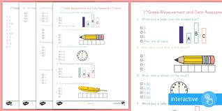 first grade measurement and data online assessment practice go