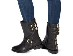 buckle biker boots dune ladies rowen buckle detail biker boot black dune shoes