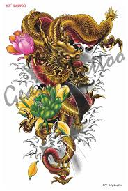 dragon tattoo on arm and shoulder temporary tattoo stickers waterproof body shoulder products