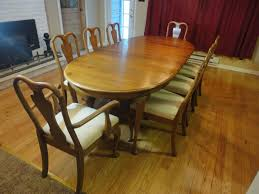 davis cabinet company dining room table davis cabinet co queen anne french country antique walnut