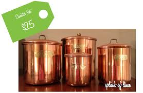 splash of lime weekend find vintage copper canister set