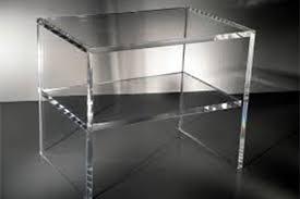 comodini in cristallo plexicrea complementi d arredo
