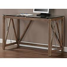 wood desk with glass top glass top cable desk overstock com marketing office pinterest