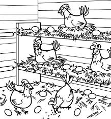 coloring page of a chicken chicken lays egg in chicken coop coloring pages netart