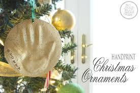 Christmas Ornaments For Baby Diy Making Handprint Xmas Ornaments Babysmiles Happy Baby