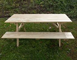 Plans For Building A Picnic Table With Separate Benches by 66
